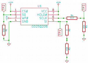 Schematic of the board around the EEPROM.